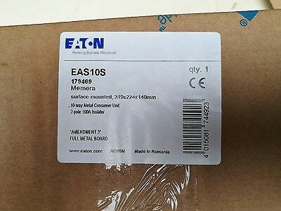 eaton 10 way amendment 3 compliant distribution board EAS10S