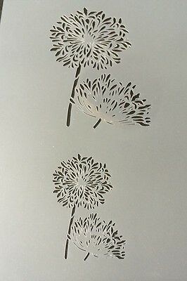 Flower Plant Mylar Reusable Stencil Airbrush Painting Art Craft DIY