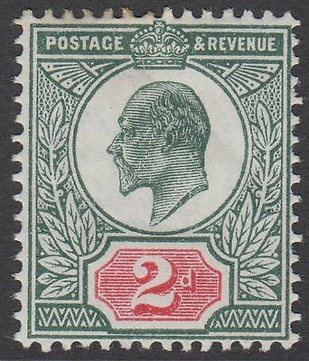 GB KEVII 2d Grey-Green & Red Edward VII Mint Hinged Stamp