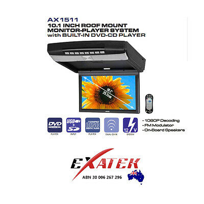 AXIS AX1511 Roof Mount DVD Player- Brand New 2 year warranty in box- Aus Stock