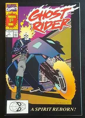 Ghost Rider #1 Marvel Comic Book May 1990 1st App. Deathwatch  Dan Ketch