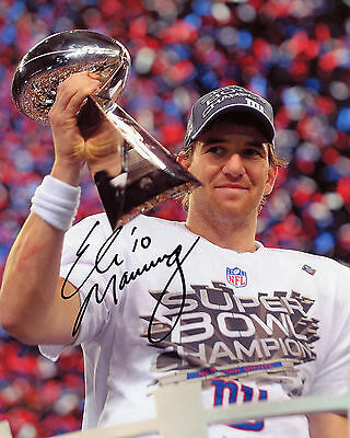 Eli Manning - New York Giants Quarterback - NFL - Signed Autograph REPRINT