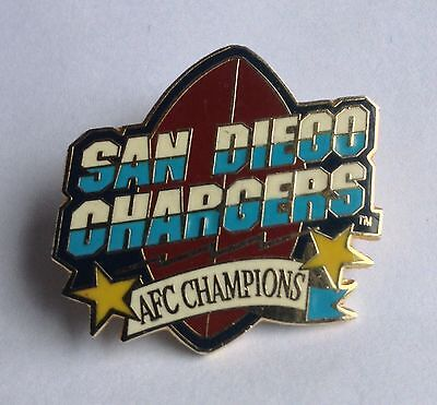 San Diego Chargers 1990's AFC Champions Pin Badge American Football
