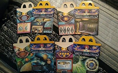 Star Trek TMP McDs Happy Meal Boxes 4 diff. UNUSED 1979 Mint.