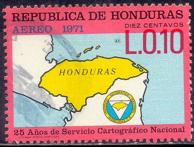 Honduras  Map On Stamp -  25 years of joint cartographic work 1971.
