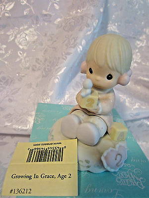 Enesco 1994 Precious Moments Growing In Grace age 2 girl figurine #136212 boxed