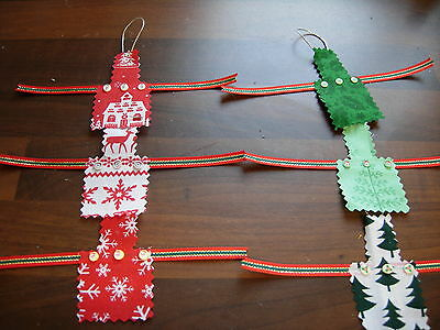 1/12Th Scale Dolls House Xmas Pinny Apron Handmade Christmas New Red Green New