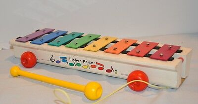 Vintage Fisher Price - Xylophone - Pull Toy #870