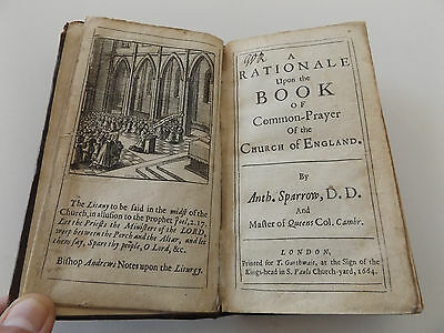 1664 A RATIONALE Upon the BOOK of Common-Prayer of the CHURCH of ENGLAND Bible