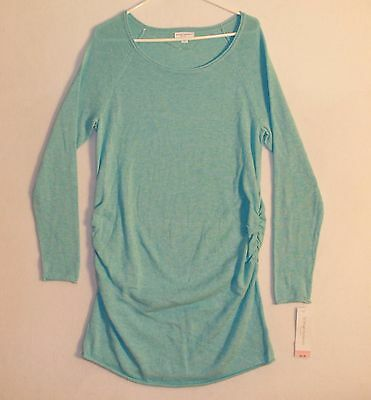 Liz Lang Maternity Long Sleeve Knit Sweater Woman's Size 2XL Aqua Blue