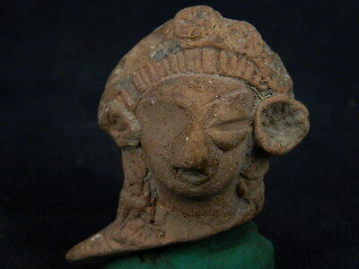 Ancient Teracotta Mother Goddess Head Indus Valley 600 BC  #TR894