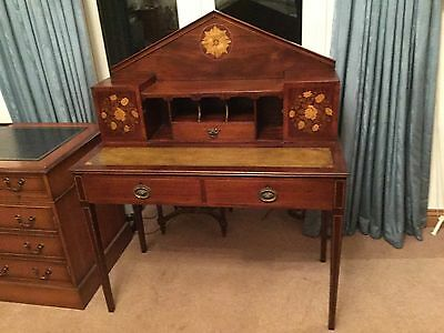 Stunning Reproduction Inlaid Mahogany Georgian Style Ladies Writing Desk