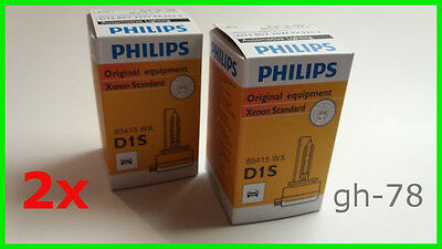 2 x PHILIPS Xenon D1S Standard 85415 WX Brenner 85V 35W PK32d-2 Set (A101)