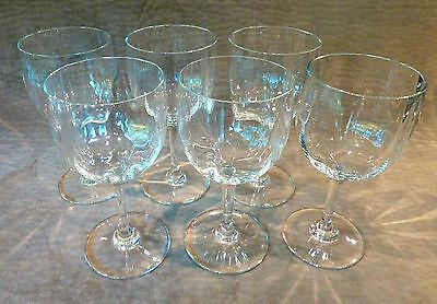 "Baccarat Montaigne Optic Claret Wine Glasses - Set Of 6 - 5 3/4"" Tall - France"