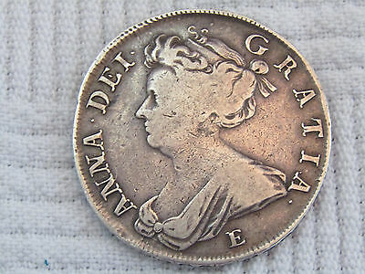 Queen Anne 1708 Half Crown Septimo coin