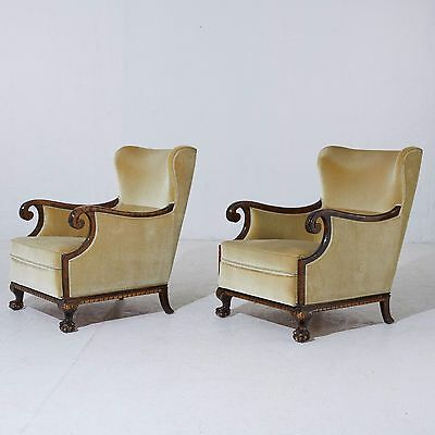 Chippendale Ball Claw Armchairs 1 pair 1900s the first half