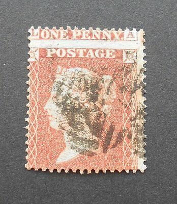 GB QV 1d red with perforation error - rare penny red perf shift