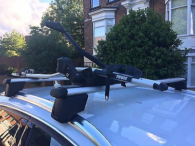 Audi Q3 Genuine Roof Bars And Thule Bike Carrier.