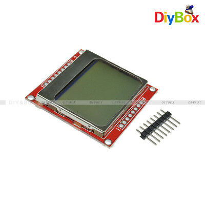 2PCS 84*48 84x48 LCD Module White Backlight Adapter PCB for Nokia 5110 Arduino