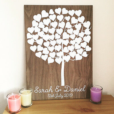 Personalised Wooden Guestbook Tree Board Party Wedding Christening