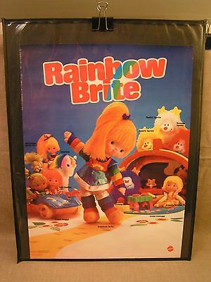 1983 Rainbow Brite Mattel Toys Product-Line 17x23 Store Advertising Poster Rare!