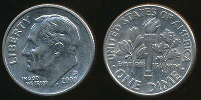 United States, 2000-D Dime, Roosevelt - Uncirculated