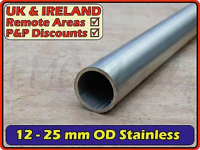 Stainless Steel Round Tube (pipe, post, pole) | 12mm - 25mm OD | 304 316 Marine