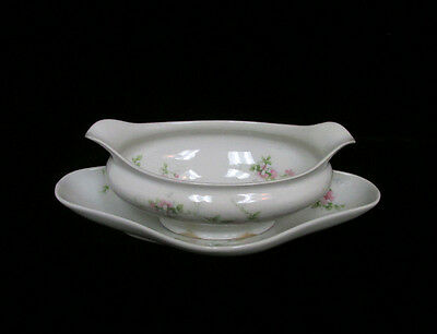 CH Field Haviland Limoges GDA France Gravy Boat and Plate