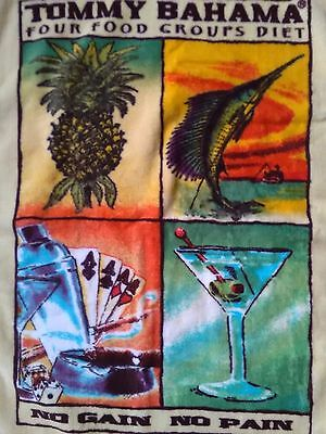 Great gift! New TOMMY BAHAMA golf towel Martini Poker Sailfish NWOT