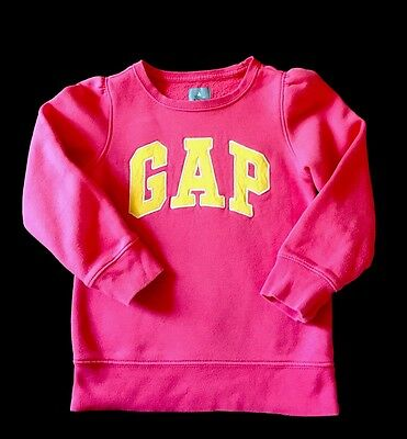 Gapkids Toddler Girls Pink Yellow Sweater Size 5T