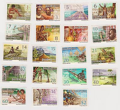 (K31-61) 1973 PNG 19set of definitive stamps 1c to $2 MUH