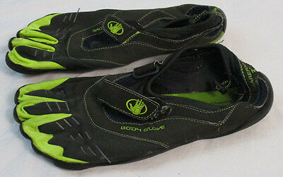 Body Glove 3T Barefoot Men's Size 11 Water Shoes Toe Surf Shoe Black Gray Green