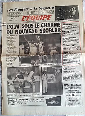 L'Equipe Journal 26/09/1986; Volley France-Chine/ l'OM; Skoblar/ Noah/ Limoges