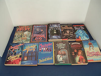 YA teen  mystery scary horror 11 PB book lot Christopher Pike Lois Duncan Cooney