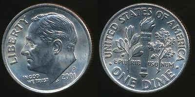 United States, 2001-P Dime, Roosevelt - Uncirculated