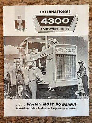 Vintage International Harvester 4300 Four-Wheel Drive Farm Tractor Brochure