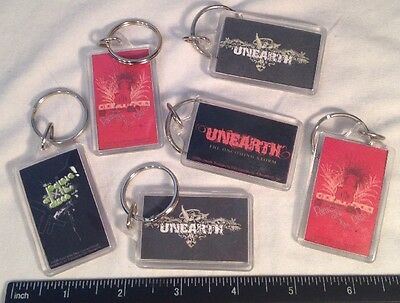 Vtg Panic At The Disco & Unearth Rock & Roll Bands Music Key Chain Lot