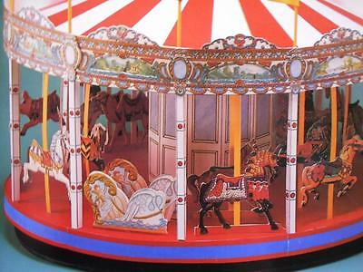 2v Old Fashioned Carousel Cut & Assemble Full Color A.G. Smith Dover UNCUT NEW