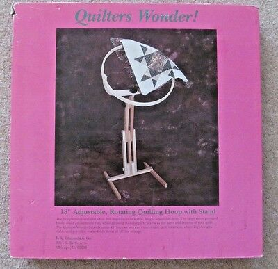 F.A. Edmunds Quilters Wonder Adjustable Quilting Hoop Frame w/ Stand