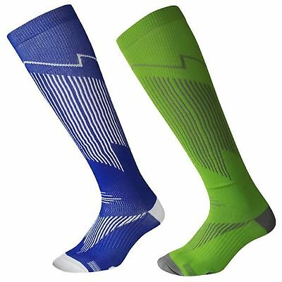 Men s Sports Socks for Football Baseball hockey Rugby 2 Pairs Blue Green