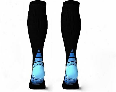 2 Pairs Eulay Men Women Graduated Compression Socks Ideal for Running,...