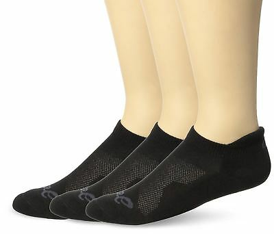 ASICS Cushion Low Cut Sock Pack of 3 , Large, Black