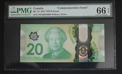 2015 Canada $20 Dollar Commemorative Limited Issue - PMG