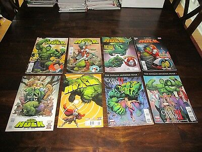 Totally Awesome Hulk #1 - 8 Complete Run High Grade Fing Fang Foom Pak Cho Nice!