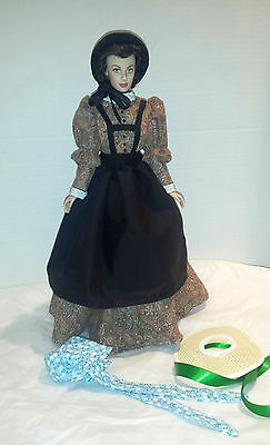 GWTW Battlefield Desperation Dress Set Hand Made Scarlett Franklin Mint,Tonner