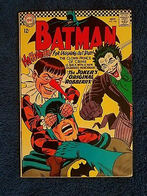 Batman 186 Joker cover Silver age/ Hard to find Higher Grade!