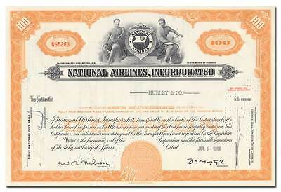 National Airlines, Incorporated Stock Certificate
