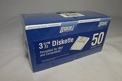 Quill High-Density 'Floppy' Diskettes, 3-1/2 Inch Sealed Box Of 50 Double Sided