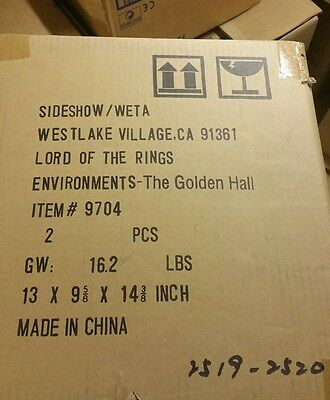 (One of) the golden halls sideshow weta lord of the rings environment