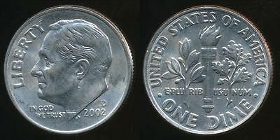 United States, 2002-D Dime, Roosevelt - Uncirculated
